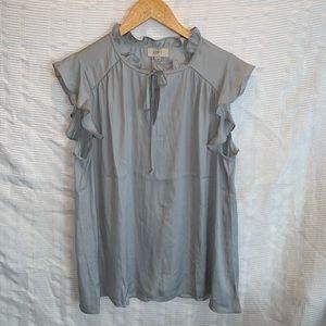 LOFT ruffled sleeve blouse shirt size M Medium
